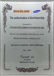 Bixolon Official Distributor in Malaysia for Bixolon Samsung Mini Printers