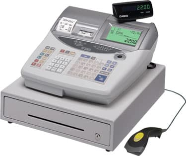 Casio TE-2200 Cash Register with Barcode Scanner