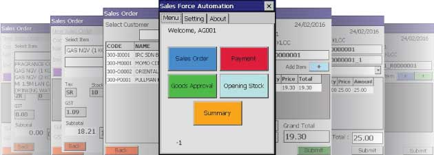 SFA Terminal Software User Interface