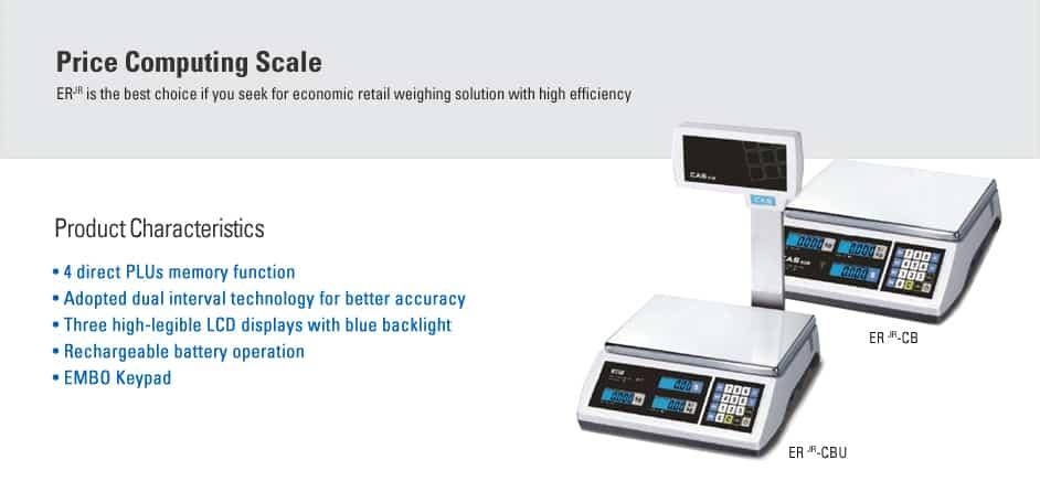 CAS ER JR Price Computing Scale