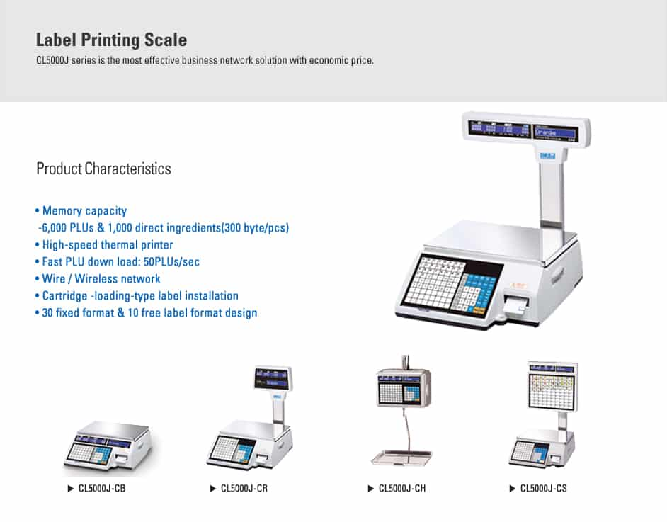 CAS_CL-5000J_Label_Printing_Scale